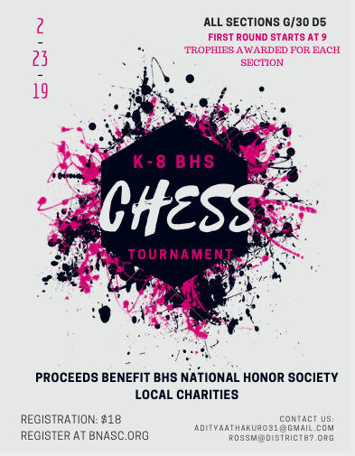 2019 K-8 BHS Chess Tournament